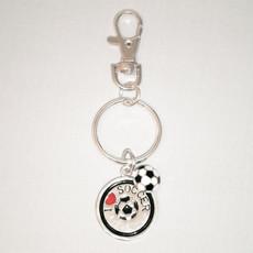 I Heart Soccer Keychain