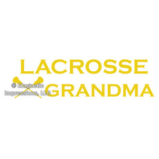 Lacrosse Grandma Window Decal
