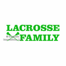 Lacrosse Family Window Decal