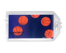 Basketball Plastic Luggage Tag Front