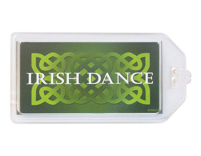 Irish Dance Plastic Luggage Tag
