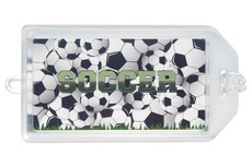 Soccer Plastic Luggage Tag
