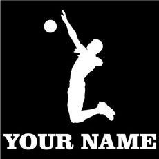 Volleyball Spike Window Decal
