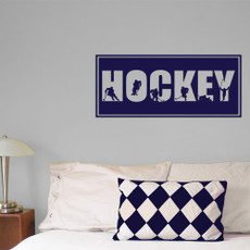 Hockey Word Men's Wall Décor