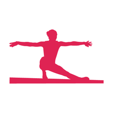 Gymnast Beam Window Decal