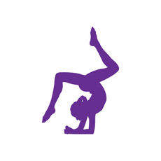 Gymnast Floor Window Decal