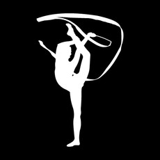 Gymnast Ribbon Window Decal