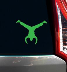 Breakdance Handstand Male Window Decal