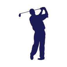 Golfer Male Window Decal