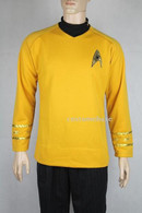 Star Trek Captain Kirk Classic Gold Shirt Adult Men's Costume Uniform