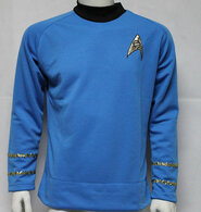 Star Trek Spock Classic Blue Shirt Adult Men's Costume Uniform