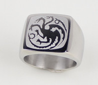 TARGARYEN RING stainless steel Game of Thrones HBO GOT dragon sigil