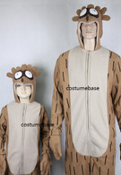 Regular Show RIGBY JUMPSUIT Mascot Fleece Child KIDS hood Halloween Costume
