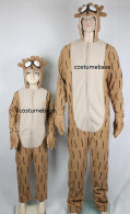 Regular Show RIGBY JUMPSUIT Mascot Fleece ADULT