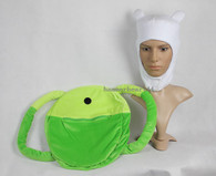 Adventure Time FINN HAT BACKPACK Set