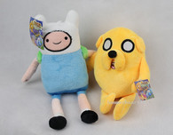 ADVENTURE TIME FINN and JAKE PLUSHIE Doll PLUSH TOY Set of 2