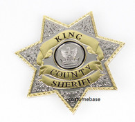 The Walking Dead Uniform star BADGE
