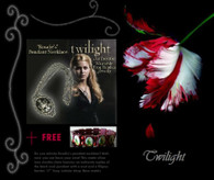 Twilight ROSALIE NECKLACE Cullen Crest FREE BELLA gift