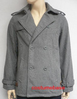 Edward Cullen Pea Coat Twilight Jacket Costume + Free Wristcuff