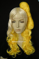 Lady Gaga Blonde Curl Wig #G4 + Telephone HairClip