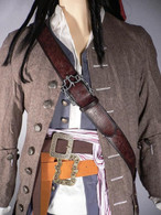 JACK SPARROW Sun Flower Baldric Belt Set POTC Pirate of the Carribean