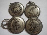 HBO Game Of Thrones Stark Targaryen Baratheon Lannister keyrings set 4 keychains
