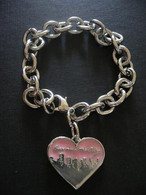 Sex and the City Heart Charm Bracelet Hello Lover
