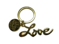 Sex And The City LOVE Keychain Keyring Keyfob SATC with tag