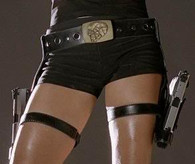 LARA CROFT HOLSTER BELT Buckle Tomb Raider Costume