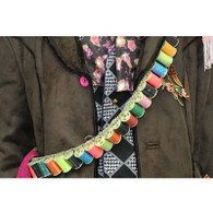Mad Hatter BANDOLIER Thread Belt Colourful Yarn costume bandoleer props