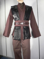 Anakin Skywalker Dark Brown/ Black Tunic Costume star wars