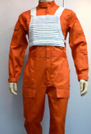 X-Wing Rebel Fighter Pilot Orange Jumpsuit + White Flak Vest