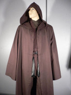DARK BROWN ROBE Jedi Cloak Obi Anakin Costume star wars halloween party wear