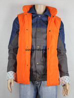 MARTY MCFLY Denim JACKET puffer vest Back To The Future 1985 Halloween Costume
