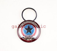 CAPTAIN AMERICA KEYRING keychain pewter official marvel chrome