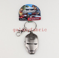 IRONMAN KEYRING keychain pewter official marvel chrome