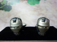 Iron Man 3D Mask Cufflinks Cuff Links