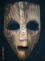 The Mask Jim Carrey VIKING MASK crafted Wood Wooden