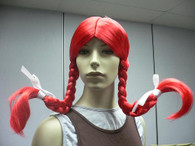 WENDY BURGER WIG Halloween pigtails red