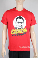 THE BIG BANG THEORY BAZINGA SHELDON FACE T-shirt tee