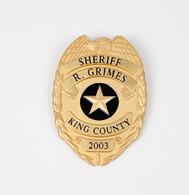 Walking Dead SDCC GRIMES BADGE GOLD