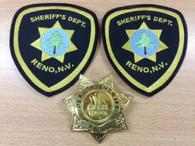 RENO 911 Deputy SHERIFF STAR BADGE + Dept Shoulder Patch 2