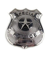 SPECIAL POLICE Cop Metal Badge Shield Silver Nickel Copper Replica Prop Costume