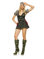 ARMY CADET soldier military womens sexy adult officer halloween costume