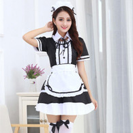 Sexy Japanese Anime Lolita Maid Uniform Dress Cosplay Costume