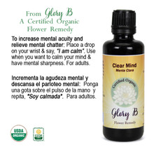 CLEAR MIND Organic Flower Essence