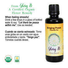 BRINGING PEACE Organic Flower Essence