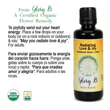 RADIATING LOVE AND JOY Organic Flower Essence