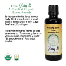 HEALING WITH LOVE Organic Flower Remedy 100ML