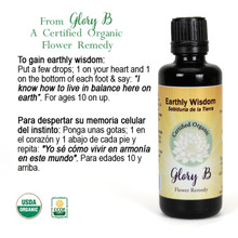 EARTHLY WISDOM Organic Flower Essence